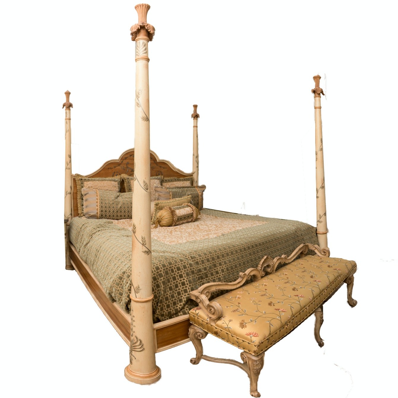 European Inspired King Size Four Poster Bed by Ferguson Copeland